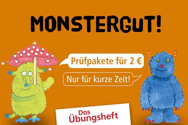 Monstergute Übungsheft-Prüfpakete