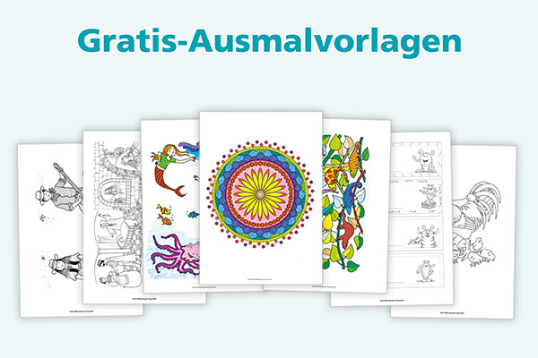15 Ausmalbilder als Gratis-Download